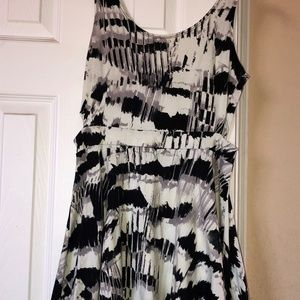 Timing dresses, black and white dress, size medium